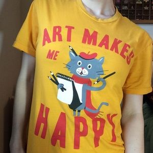 Urban Outfitters Tops - Carnegie Museum of Art | Art Makes Me Happy Tee